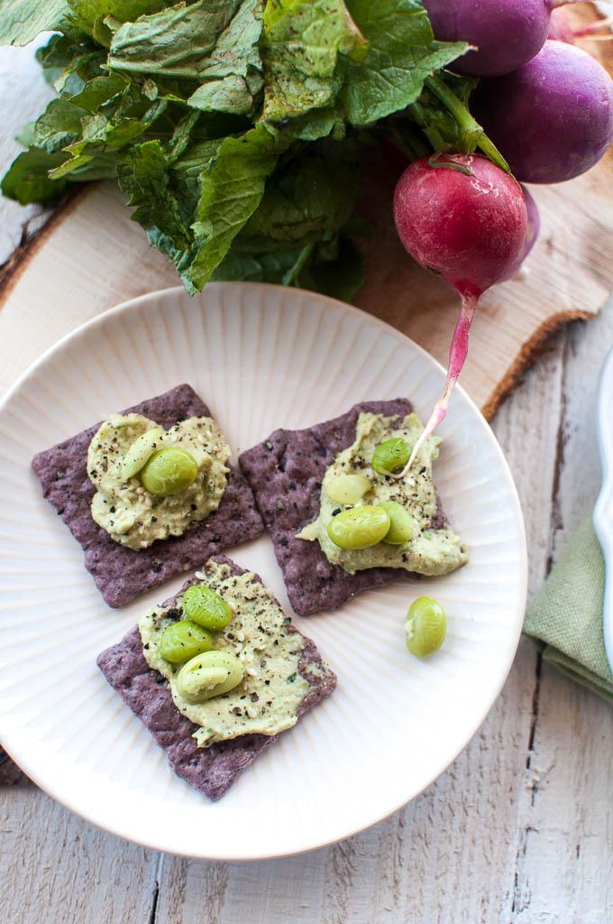 High Protein Edamame Hummus