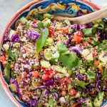 Quina and Edamame Asian Salad