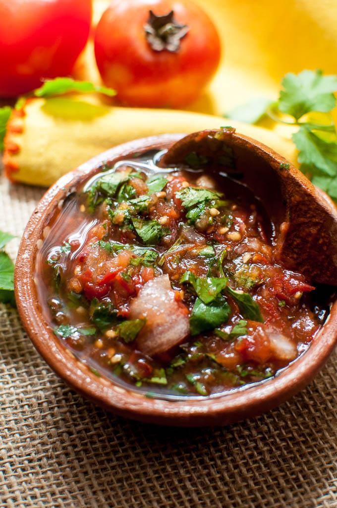 5 minute smoky salsa