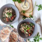 Lentil Protein Salad with Tahini Dressing