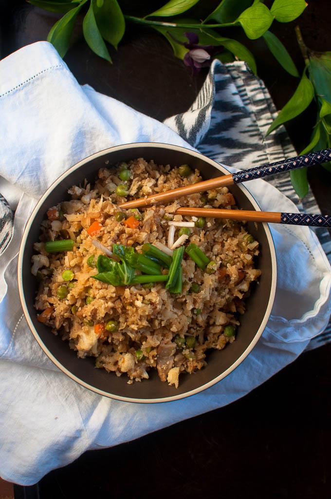 healthy cauliflower fried rice