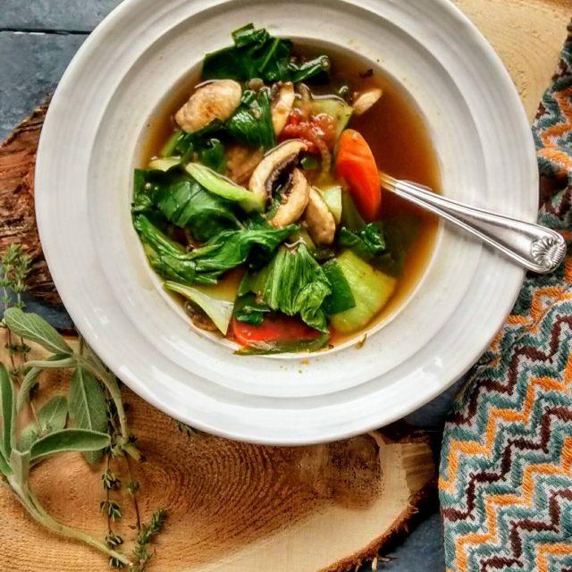Easy 15 minute fresh vegetable soup Nough said  hellip