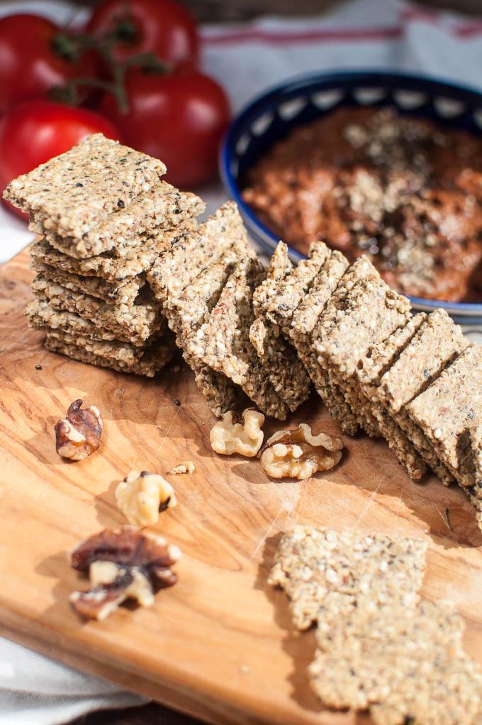 easy gluten free vegan crackers