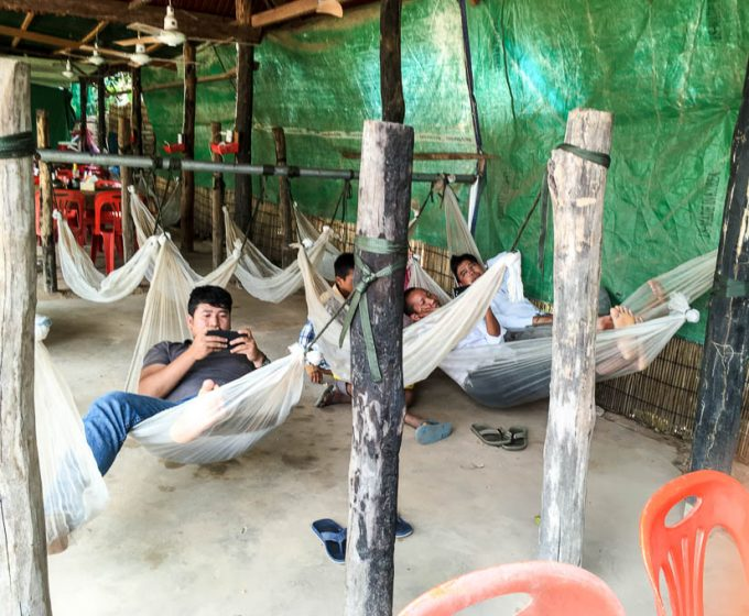 tuk tuk drivers resting