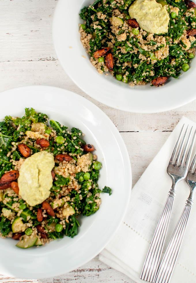 kale, quinoa, pea salad (5)