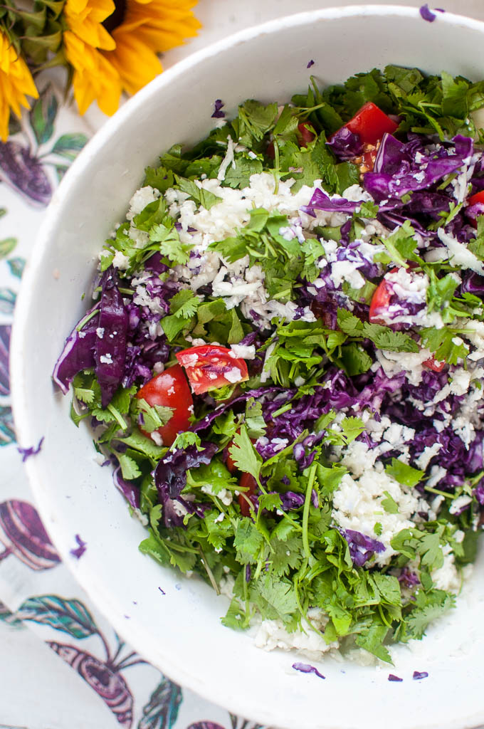 cauliflower detox salad