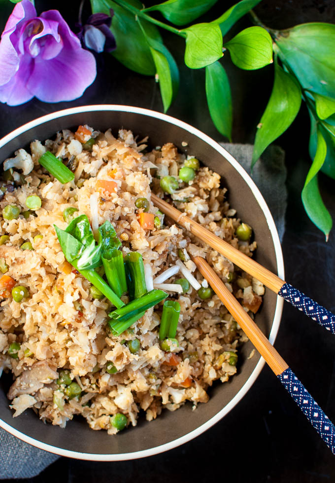 healthy cauliflower fried rice