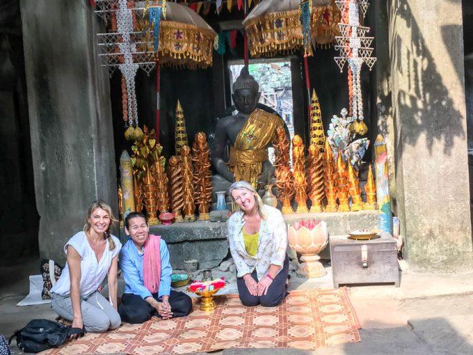Angkor wat Buddhist Blessing