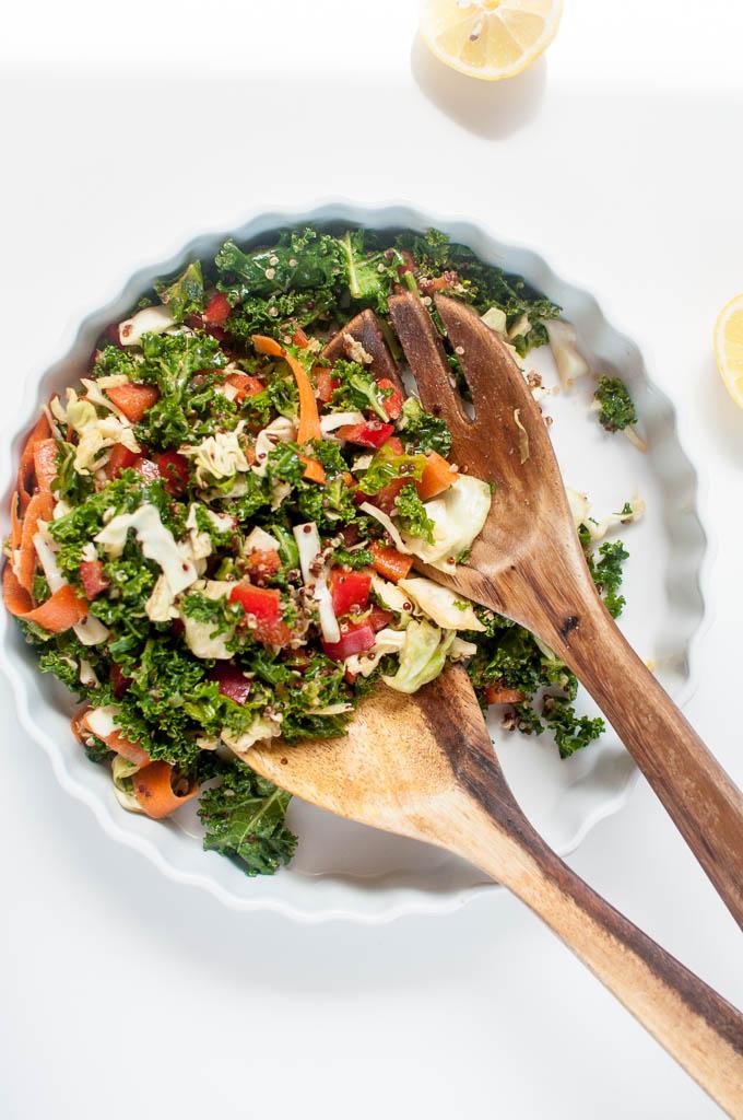 kale n quinoa salad