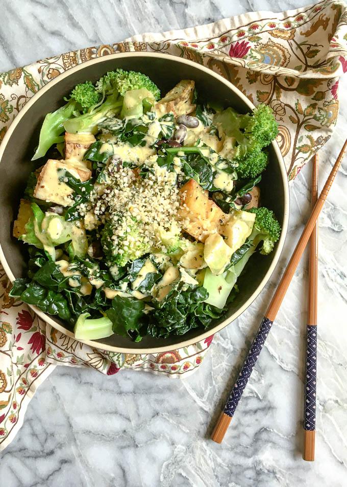 steamed greens bowl